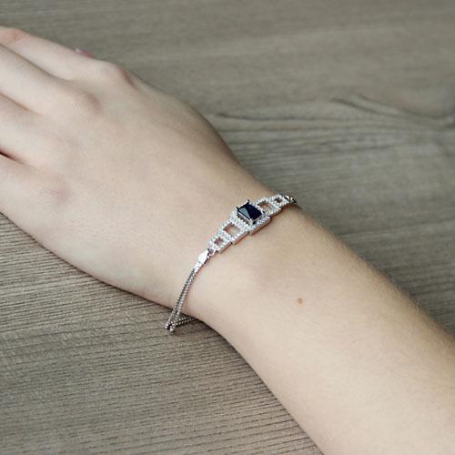 bracelet femme argent zirconium 9500246 pic5