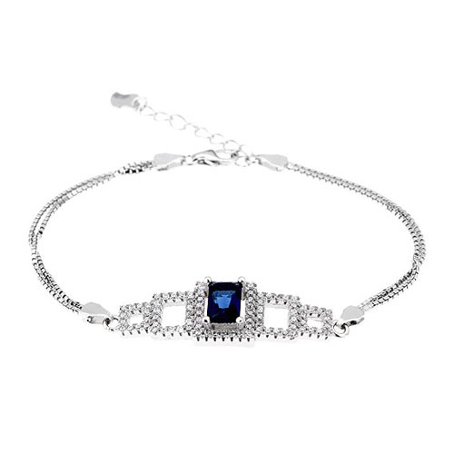 bracelet femme argent zirconium 9500246