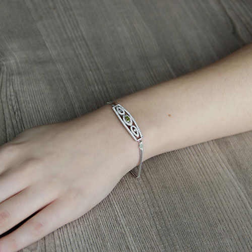 bracelet femme argent zirconium 9500247 pic4