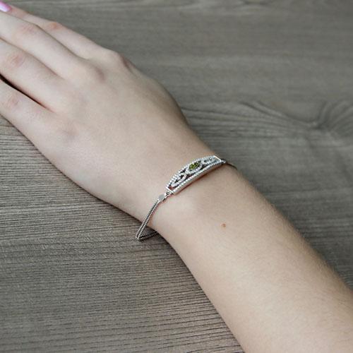 bracelet femme argent zirconium 9500247 pic5