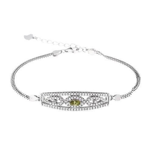 bracelet femme argent zirconium 9500247