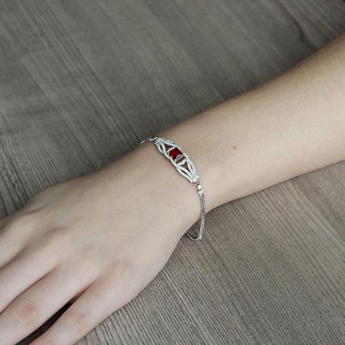 bracelet femme argent zirconium 9500248 pic4