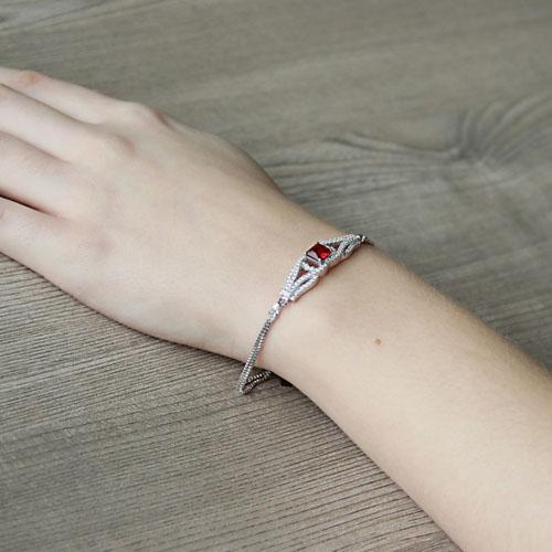 bracelet femme argent zirconium 9500248 pic5