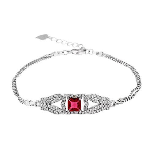 bracelet femme argent zirconium 9500248