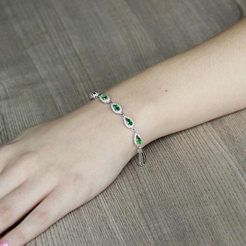 bracelet femme argent zirconium 9500249 pic4
