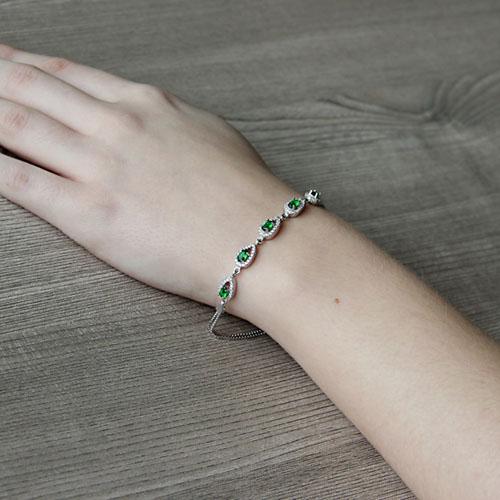 bracelet femme argent zirconium 9500249 pic5