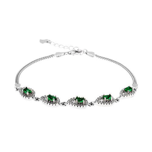 bracelet femme argent zirconium 9500249