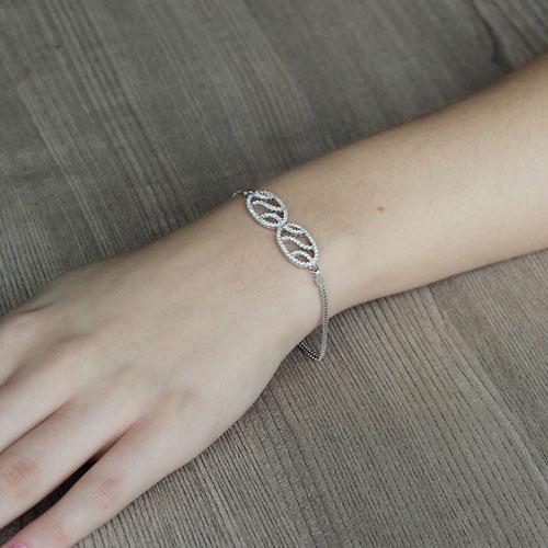 bracelet femme argent zirconium 9500250 pic4
