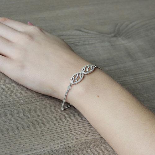 bracelet femme argent zirconium 9500250 pic5
