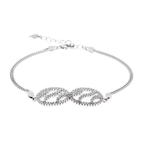 bracelet femme argent zirconium 9500250