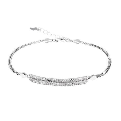 bracelet femme argent zirconium 9500252