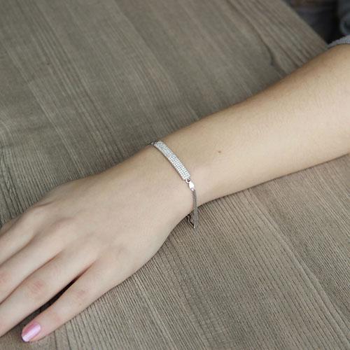 bracelet femme argent zirconium 9500253 pic4