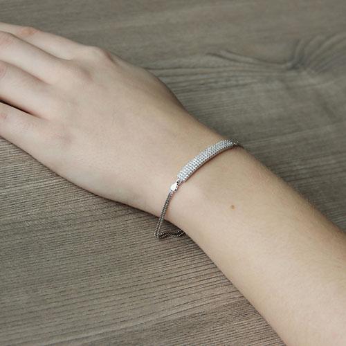 bracelet femme argent zirconium 9500253 pic5