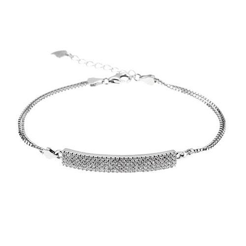 bracelet femme argent zirconium 9500253