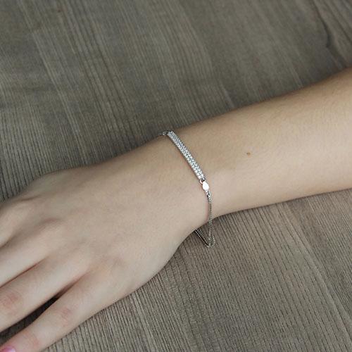 bracelet femme argent zirconium 9500254 pic4