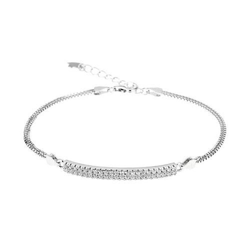 bracelet femme argent zirconium 9500254