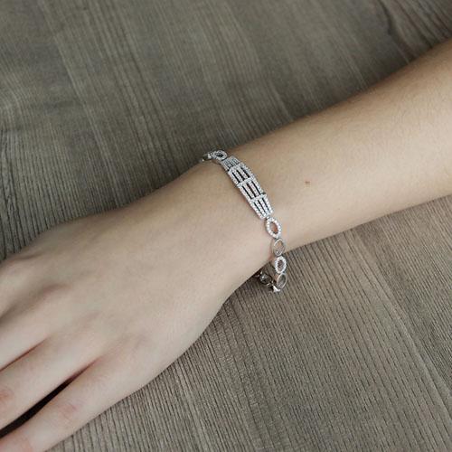 bracelet femme argent zirconium 9500255 pic4