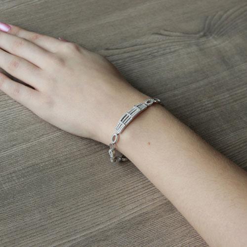 bracelet femme argent zirconium 9500255 pic5
