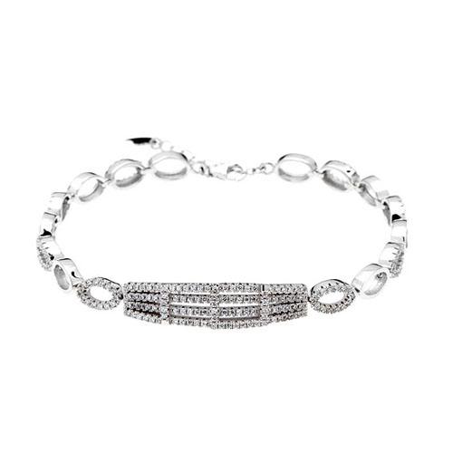 bracelet femme argent zirconium 9500255