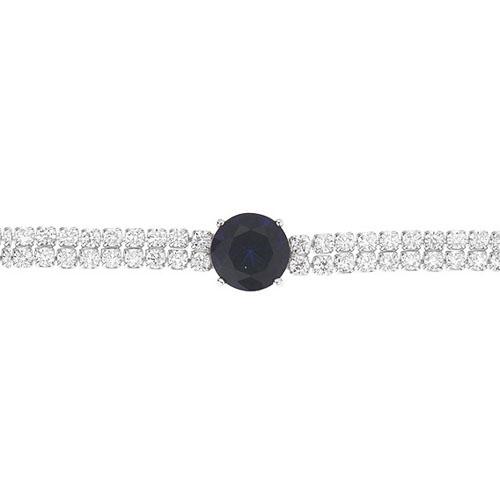 bracelet femme argent zirconium 9500256 pic2