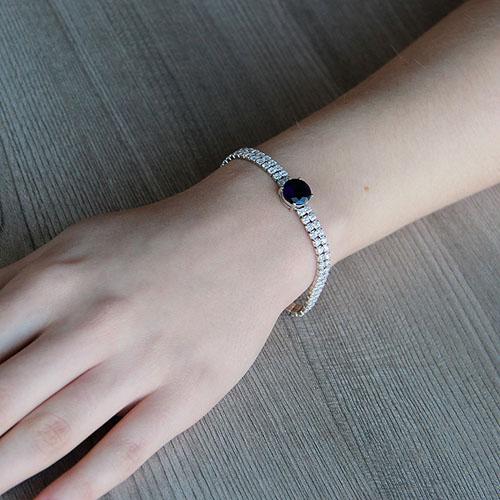 bracelet femme argent zirconium 9500256 pic4