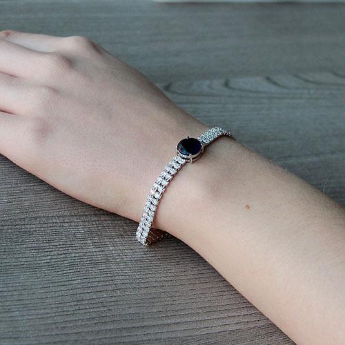 bracelet femme argent zirconium 9500256 pic5