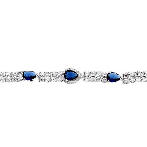bracelet femme argent zirconium 9500257 pic2