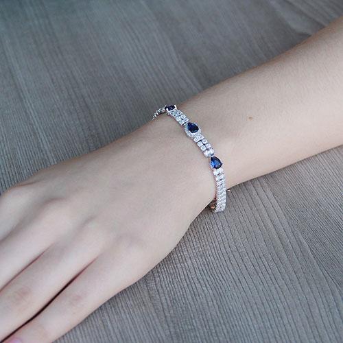 bracelet femme argent zirconium 9500257 pic4