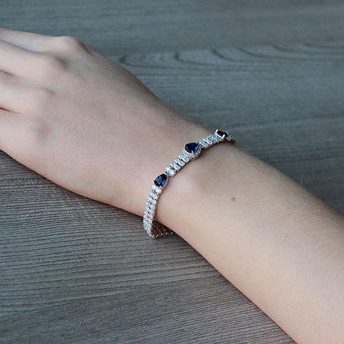 bracelet femme argent zirconium 9500257 pic5