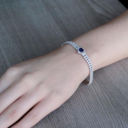 bracelet femme argent zirconium 9500258 pic4