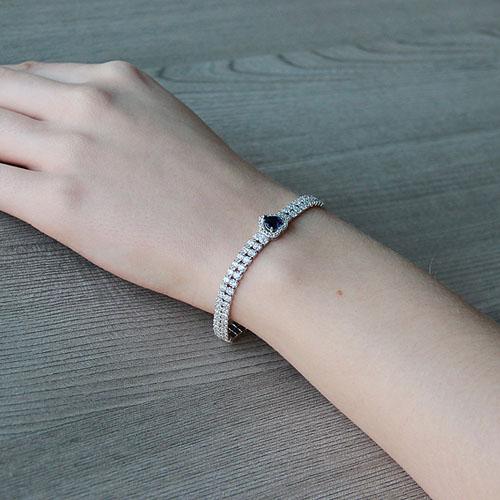 bracelet femme argent zirconium 9500258 pic5