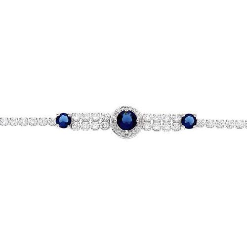 bracelet femme argent zirconium 9500259 pic2