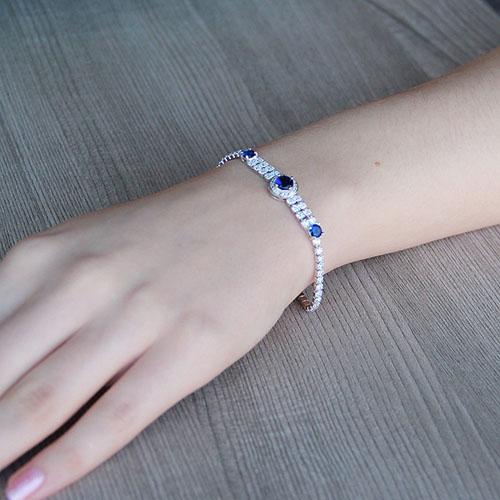 bracelet femme argent zirconium 9500259 pic4
