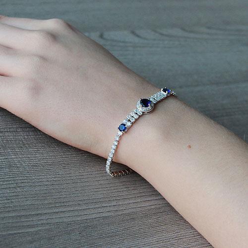 bracelet femme argent zirconium 9500259 pic5