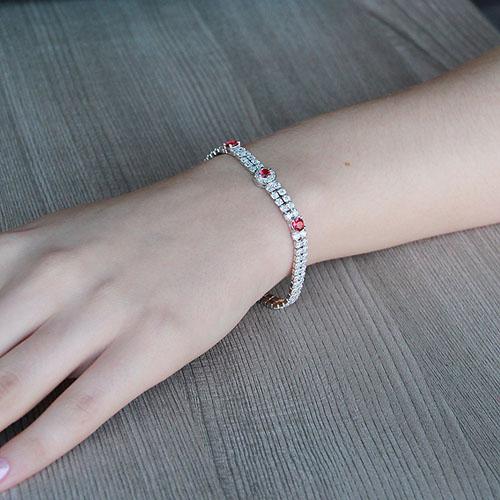 bracelet femme argent zirconium 9500260 pic4