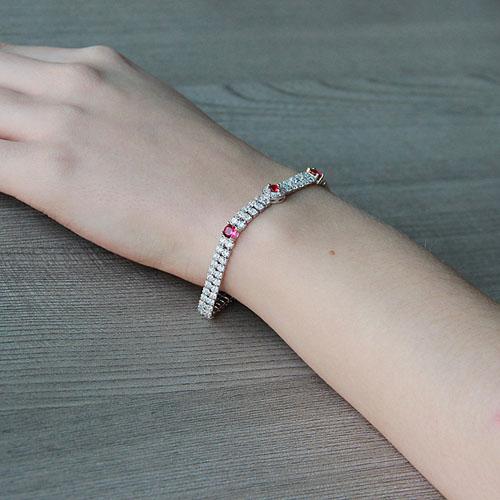 bracelet femme argent zirconium 9500260 pic5