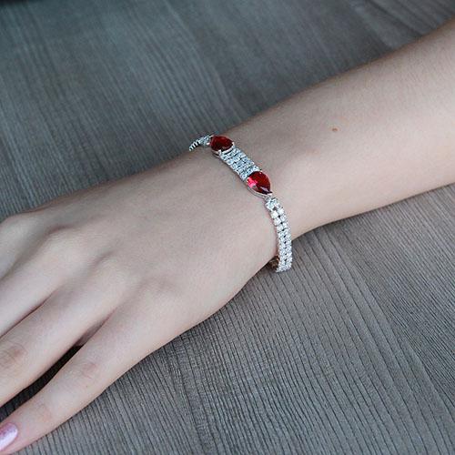 bracelet femme argent zirconium 9500261 pic4