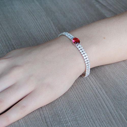 bracelet femme argent zirconium 9500262 pic4
