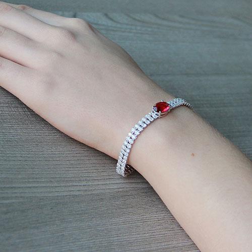 bracelet femme argent zirconium 9500262 pic5