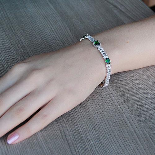 bracelet femme argent zirconium 9500263 pic4