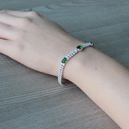 bracelet femme argent zirconium 9500263 pic5