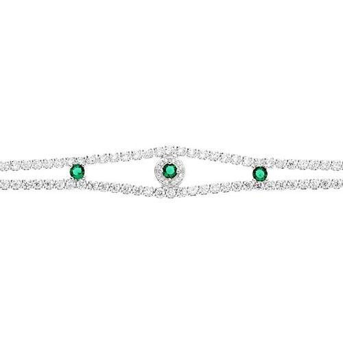 bracelet femme argent zirconium 9500264 pic2