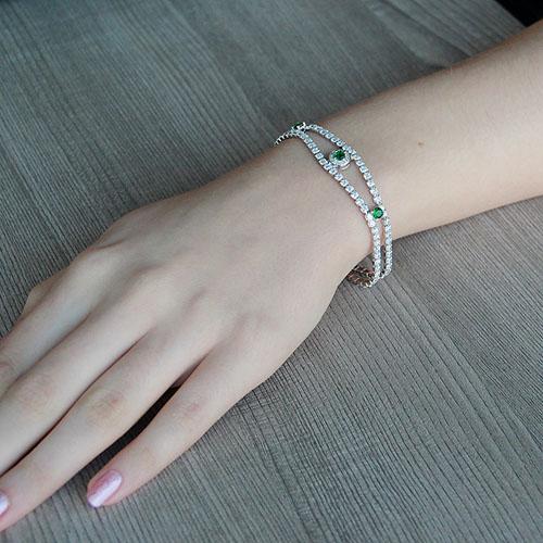 bracelet femme argent zirconium 9500264 pic4
