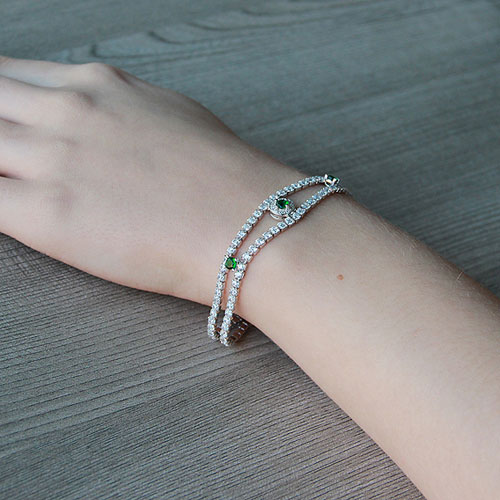 bracelet femme argent zirconium 9500264 pic5