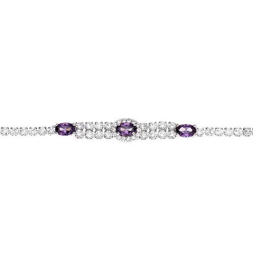 bracelet femme argent zirconium 9500265 pic2