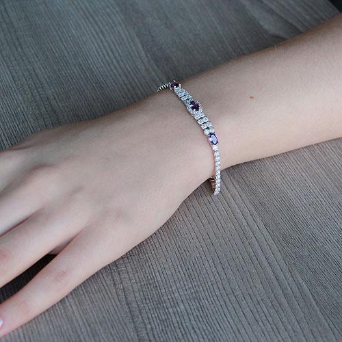 bracelet femme argent zirconium 9500265 pic4