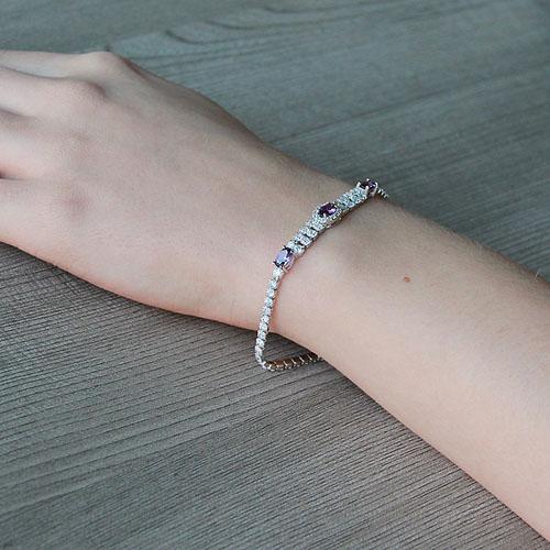 bracelet femme argent zirconium 9500265 pic5