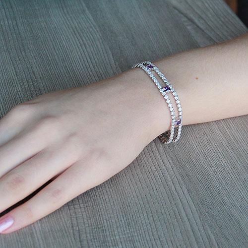 bracelet femme argent zirconium 9500266 pic4