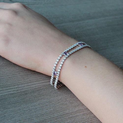 bracelet femme argent zirconium 9500266 pic5