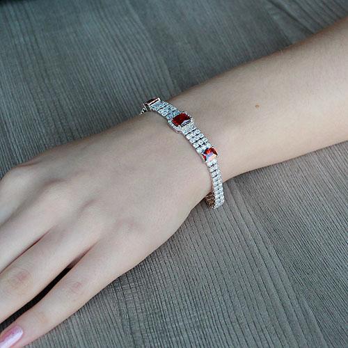 bracelet femme argent zirconium 9500267 pic4